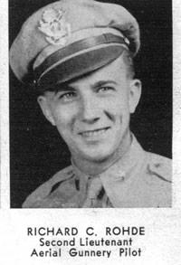 Richard C. Rohde Aerial gunnery pilot