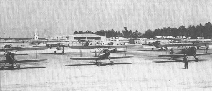 Planes on field