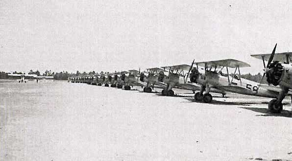 Stearmans in line
