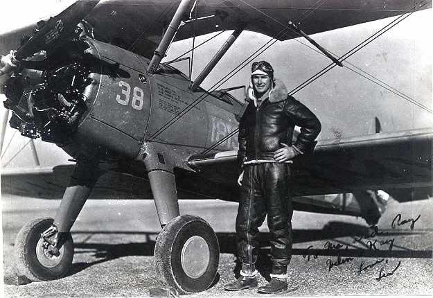 James Lewis Maginn in front of plane