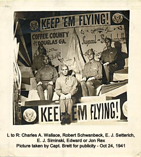 Charles Wallace, Robert Schwanbeck, E.J. Seterich, E.J. Siminski, Edward or Jon Rex, Capt Brett