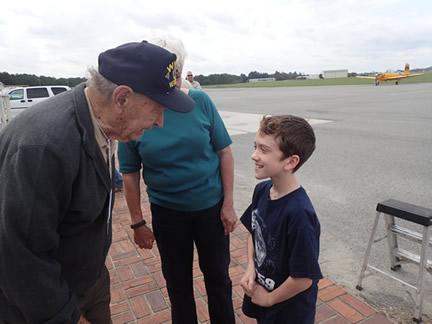 WWII vet meets admirer